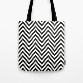 Geometric B/W Lines Pattern Tote Bag