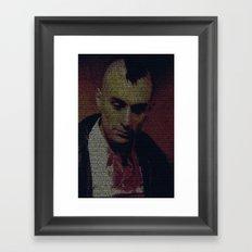 Travis. Taxi Driver Screenplay Print Framed Art Print