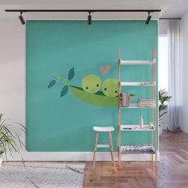 Two Peas in a Pod Wall Mural