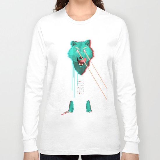 Wolf With F**king lasers Long Sleeve T-shirt