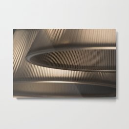 Light Geometry Metal Print