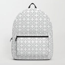 Abstract star flower light grey pattern Backpack