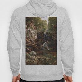 Indian Falls 1853 By David Johnson   Reproduction   Romanticism Landscape Painter Hoody