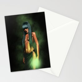 necro girl Stationery Cards