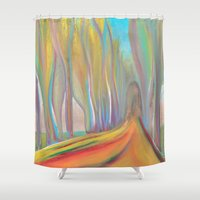 infinity Shower Curtains featuring infinity by Loosso