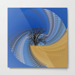 Prairie oak swirl Metal Print