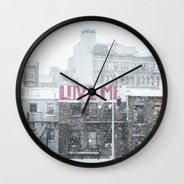 """Love Me?"" Wall Clock"