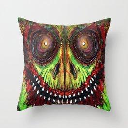 Grinning Evil Throw Pillow