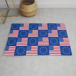 Mix of flag: USA and UE Rug