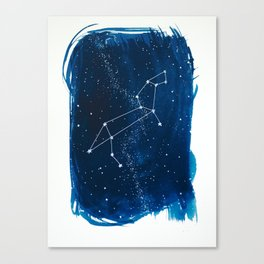 Leo Zodiac Print Canvas Print