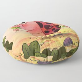 Hungry ladybird Floor Pillow