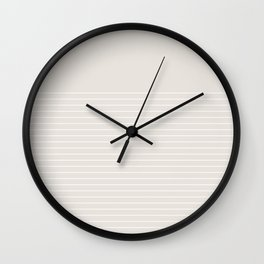 White line in beige Wall Clock