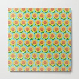 Sunflower Pattern_F Metal Print