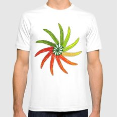 Spicy White Mens Fitted Tee SMALL
