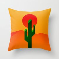 desert Throw Pillows featuring Desert by Bakus