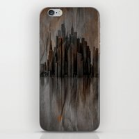 metropolis iPhone & iPod Skins featuring Metropolis by Robin Curtiss