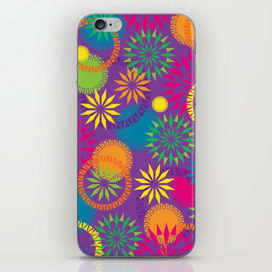 Spikeyflower Purple iPhone & iPod Skin