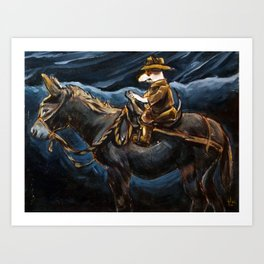 Jack Russell and a Donkey Art Print