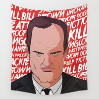 quentin tarantino Wall Tapestries featuring Tarantino by Happy Motion