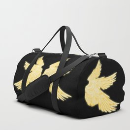 Light Gold Archangel Wings Duffle Bag