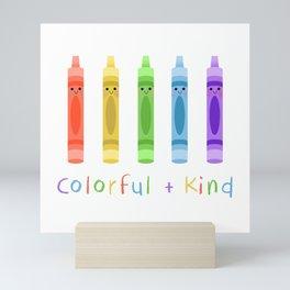 Colorful and Kind Crayons Mini Art Print