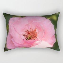 Pink Rose Blossom  & Beetle Rectangular Pillow