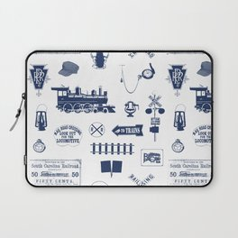 Railroad Symbols // Navy Blue Laptop Sleeve