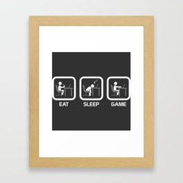 Eat, Sleep, Game. Framed Art Print