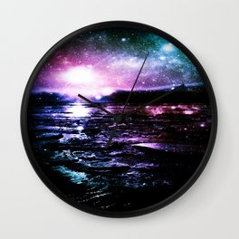 Mystic Waters Cool Tone Ombre Wall Clock