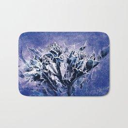 Thistle and Weeds_deep purple Bath Mat