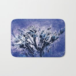 Thistle and Weeds_deep purple Bath Mat