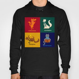 Hogwarts Cat Houses Hoody