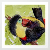 toucan Art Prints featuring Toucan by Pendientera