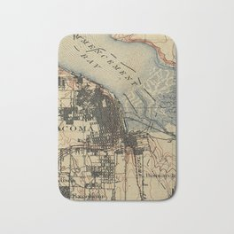 Vintage Map of Tacoma Washington (1895) Bath Mat