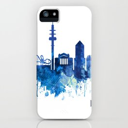 Duisburg Germany Skyline Blue iPhone Case