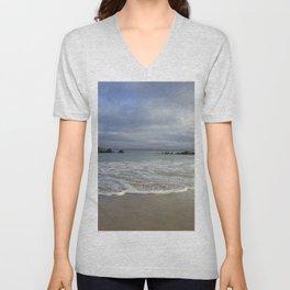 Sea foam on Reflective Sand Unisex V-Neck
