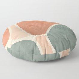 Earth Tones Shapes Floor Pillow