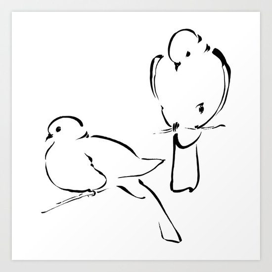 Ink Birds 02 Art Print