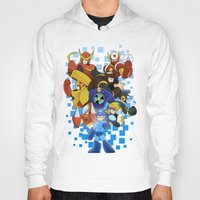megaman Hoodies featuring Megaman 2 by Patrick Towers