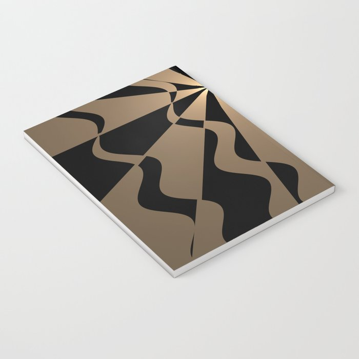 Trendy abstract in gold and black Notebook