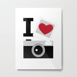 I love camera Metal Print