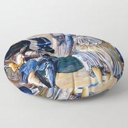 "Edward Burne-Jones ""Perseus and the Sea Nymphs (The Arming of Perseus)"" Floor Pillow"