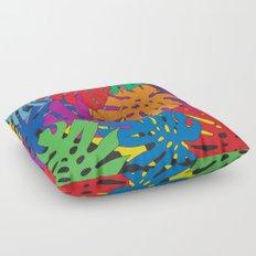 Monstera leaves in Pop Art Floor Pillow