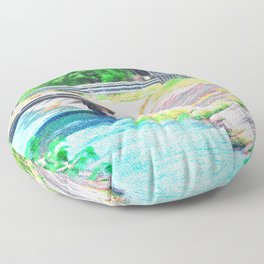 Water Canal (Impressionistic) Floor Pillow