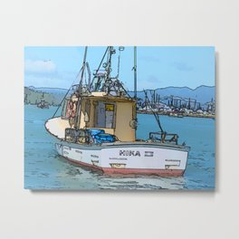 Boat at Whitianga, NZ Metal Print