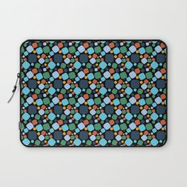 Mid Century Modern Aqua and Blue Atomic Circles Laptop Sleeve