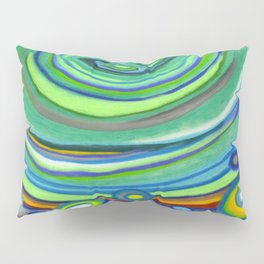 Vibrant Pastel on Suede Tree Ring Abstract by annmariescreations Pillow Sham
