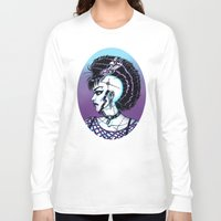 punk rock Long Sleeve T-shirts featuring Punk Rock Girl by Eeriette