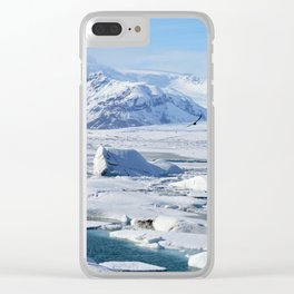 Bird in Iceland Clear iPhone Case