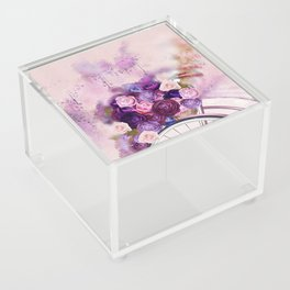 Vintag Bicycle and Flowers Acrylic Box